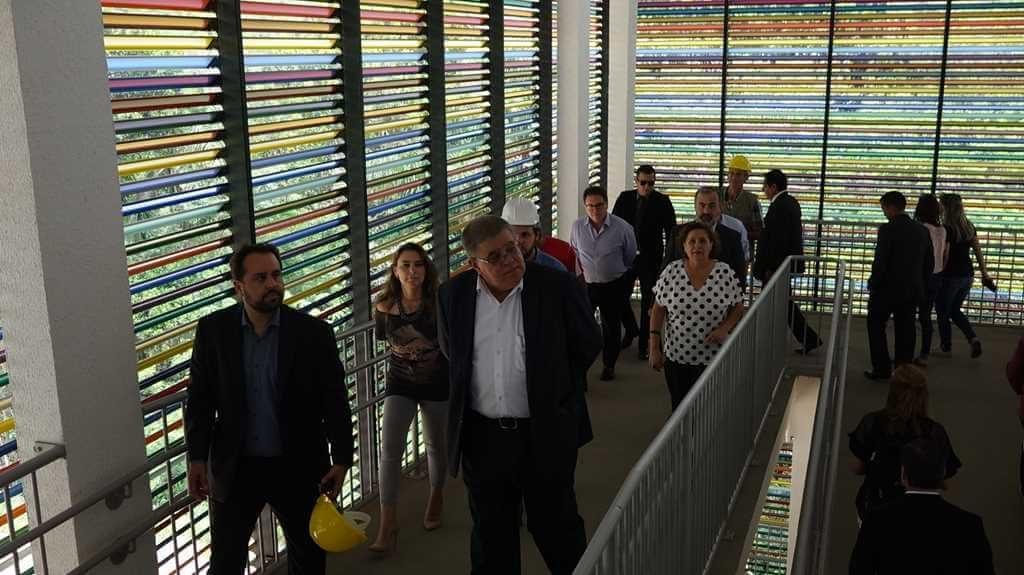 BOMBINHAS – Ministros visitam obras do Centro de Educação Integral em Bombinhas