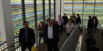 BOMBINHAS - Ministros visitam obras do Centro de Educação Integral em Bombinhas - Foto: Manuel Caetano