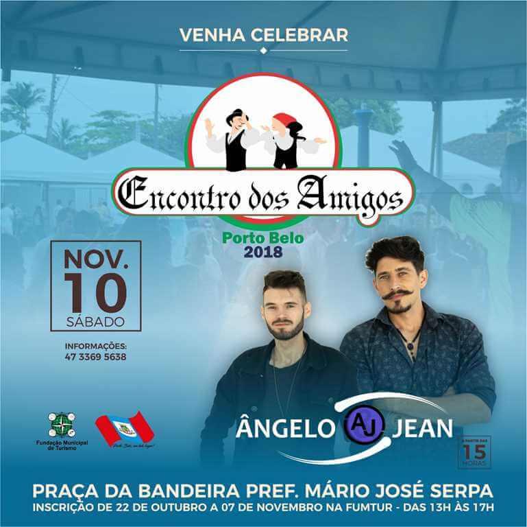 PORTO BELO – Sábado tem Encontro dos Amigos em Porto Belo