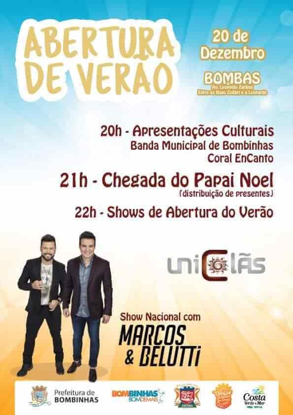 BOMBINHAS - Bombinhas abre temporada com Show Nacional
