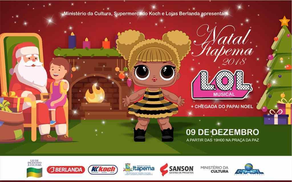 Chegada do Papai Noel será no próximo domingo (09/12) em Itapema