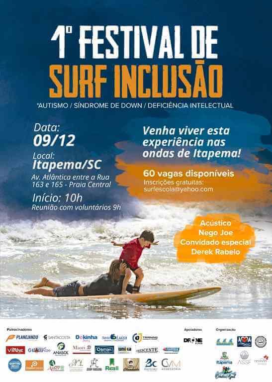 Itapema sediará 1º Festival de Surf Inclusivo