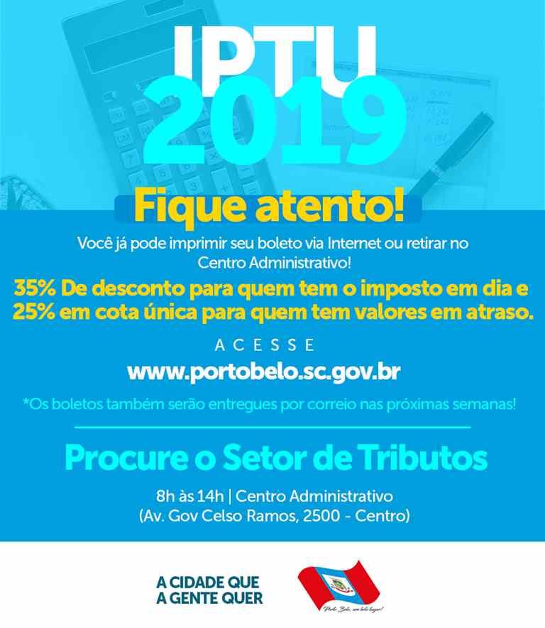 PORTO BELO – Contribuintes já podem solicitar boletos de IPTU em Porto Belo