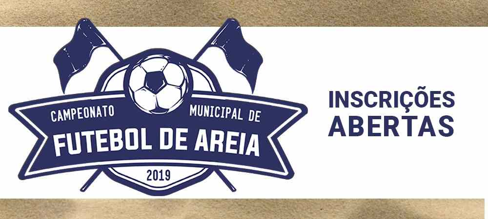 Abertas as inscrições para o Campeonato Municipal de Futebol de Areia de 2019