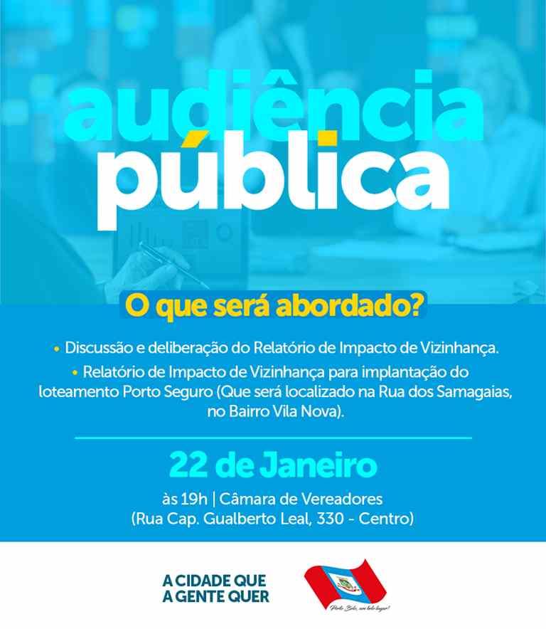 PORTO BELO – Audiência Pública discute Relatório de Impacto em Porto Belo
