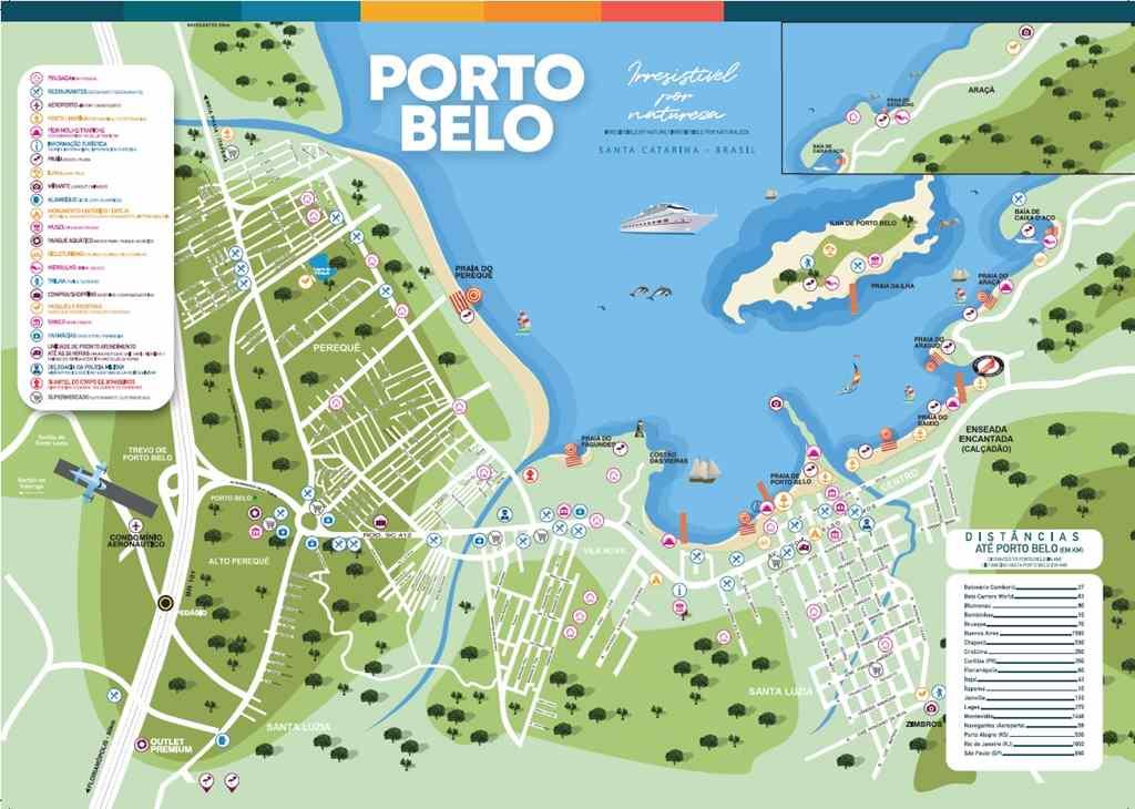 PORTO BELO - Porto Belo desenvolve novo mapa turístico