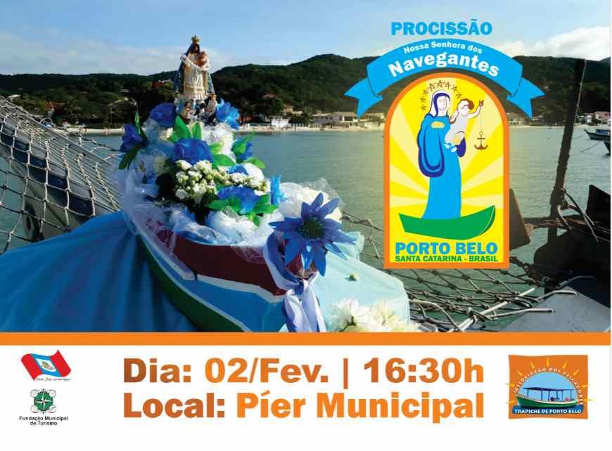 PORTO BELO – Porto Belo realiza procissão de Nossa Senhora dos Navegantes