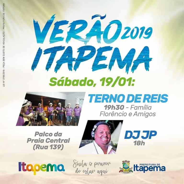 Sábado (19/01) tem música no Projeto Itapema Verão 2019