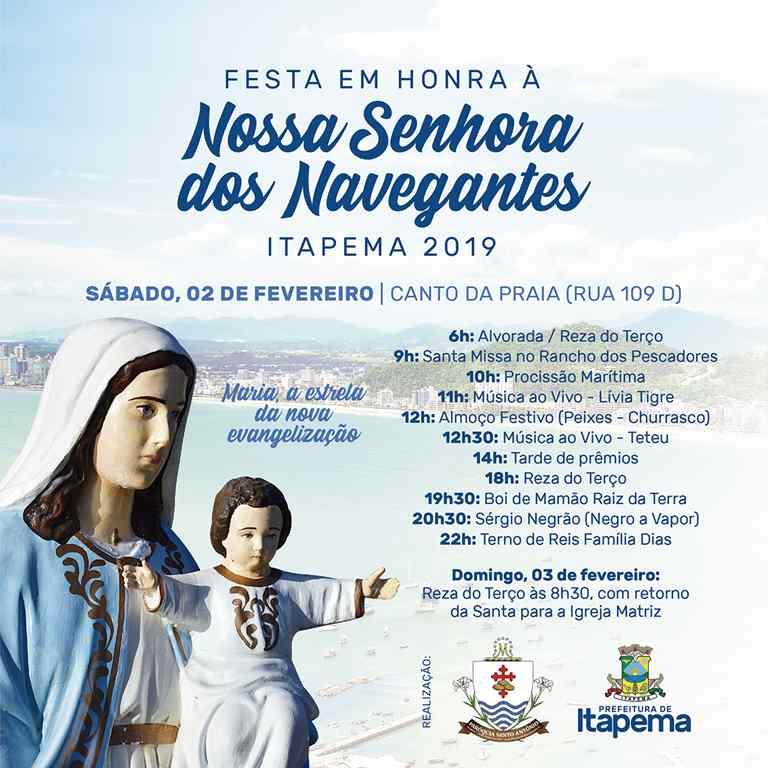 Vem aí a Festa em honra a Nossa Senhora dos Navegantes