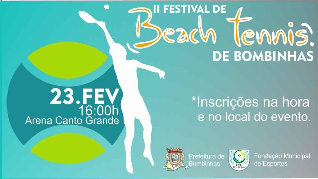 BOMBINHAS – Beach Tennis será atração em Canto Grande