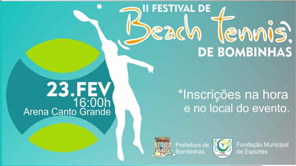 BOMBINHAS - Beach Tennis será atração em Canto Grande