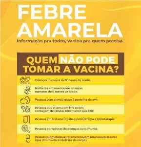 BOMBINHAS – Bombinhas oferece vacinação contra a Febre Amarela
