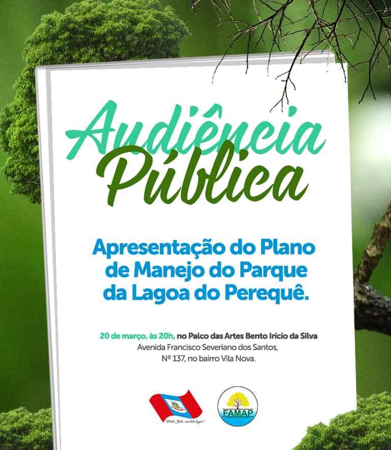 PORTO BELO - Audiência Pública apresenta Plano de Manejo do Parque da Lagoa do Perequê