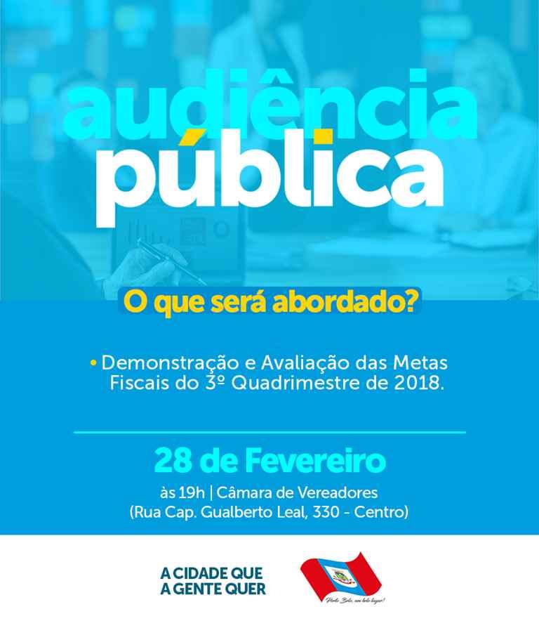 PORTO BELO - Audiência Pública para Demonstração e Avaliação das Metas Fiscais