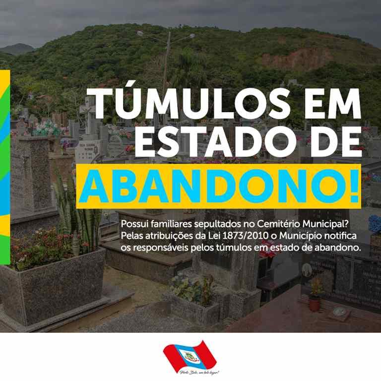 PORTO BELO - Porto Belo notifica responsáveis por túmulos abandonados em cemitério