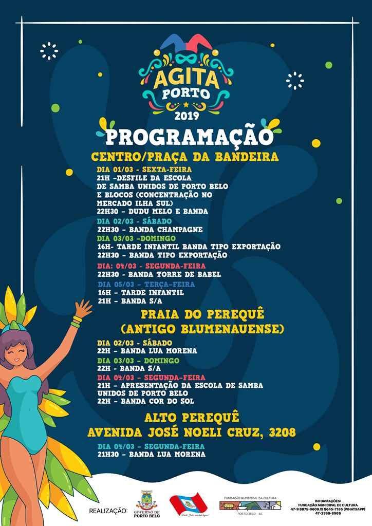 PORTO BELO – Porto Belo terá cinco noites de festa neste Carnaval