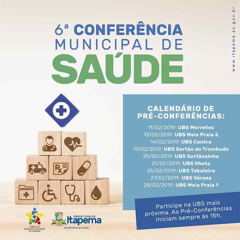 Pré-conferências da Saúde iniciam nesta segunda-feira (11/02)