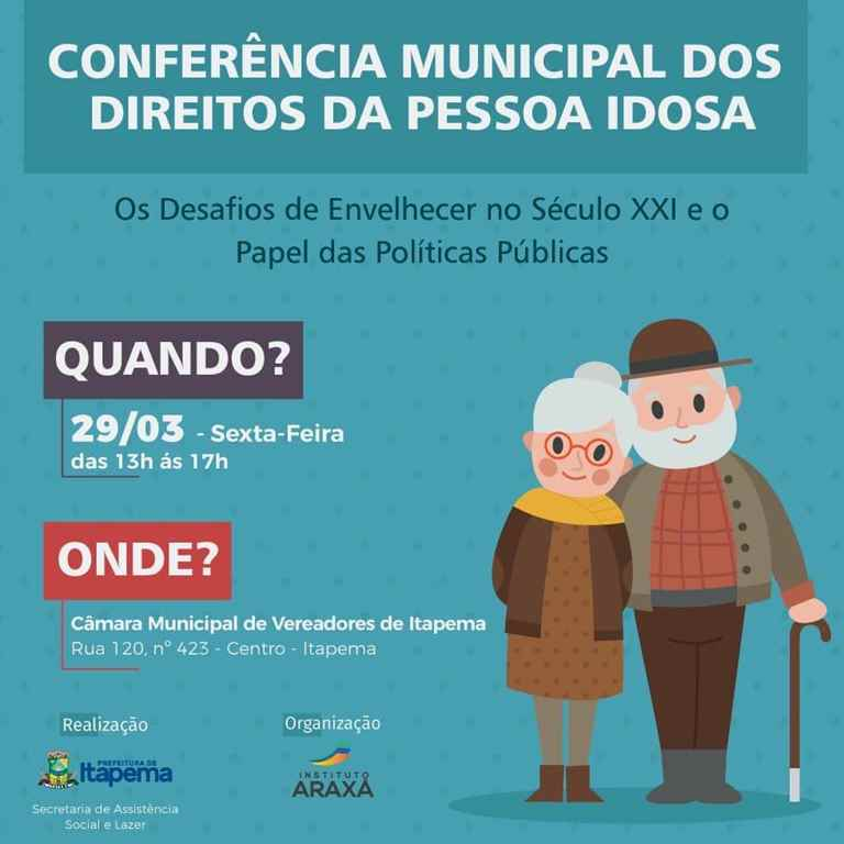 Assistência Social irá realizar a Conferência Municipal dos Direitos da Pessoa Idosa