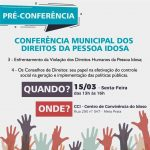 Assistência Social realizará pré-conferências Municipais dos Direitos da Pessoa Idosa