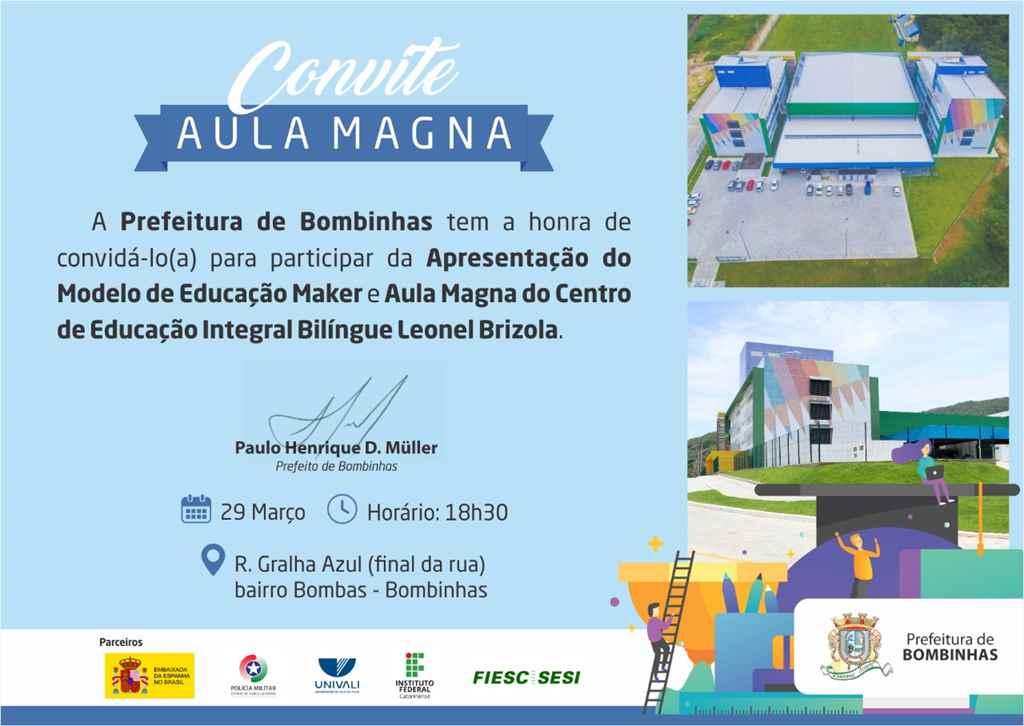 BOMBINHAS - Aula Magna apresenta Educação Maker no CEIT
