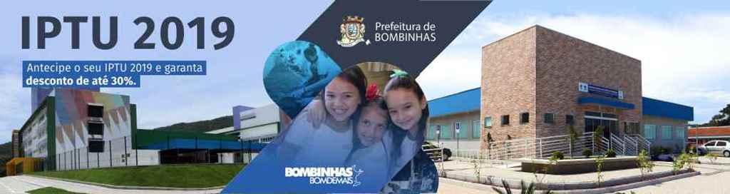 BOMBINHAS - IPTU com desconto de 20% só até o dia 6
