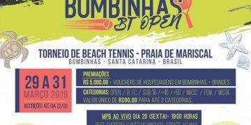 BOMBINHAS - Praia do Mariscal receberá Torneio de Beach Tennis