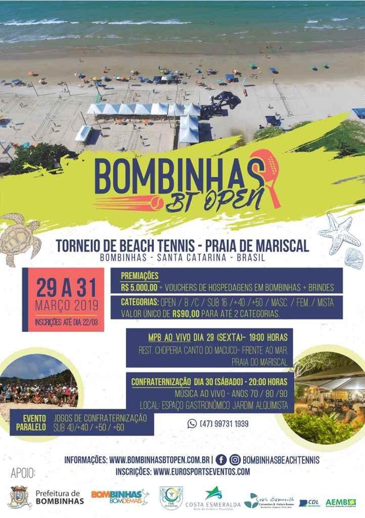 BOMBINHAS – Praia do Mariscal receberá Torneio de Beach Tennis
