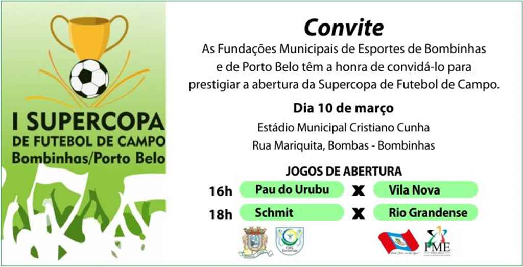BOMIBNHAS - Bombinhas e Porto Belo participam de Supercopa