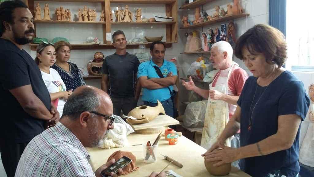 Representantes de Itapema realizam visita técnica em olaria