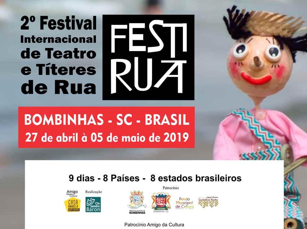 BOMBINHAS - 2º FESTIRUA começa nesse sábado - Foto: Fábio Prates - Cia Sandra Baron
