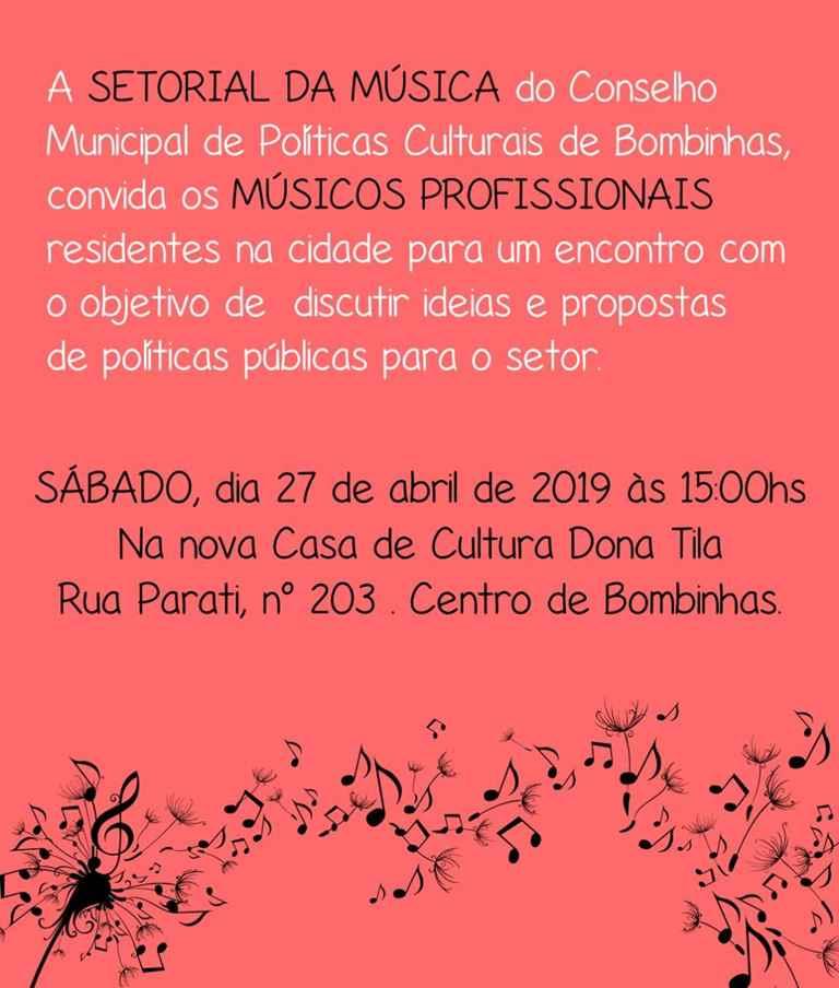 BOMBINHAS - Reunião da Setorial da Música