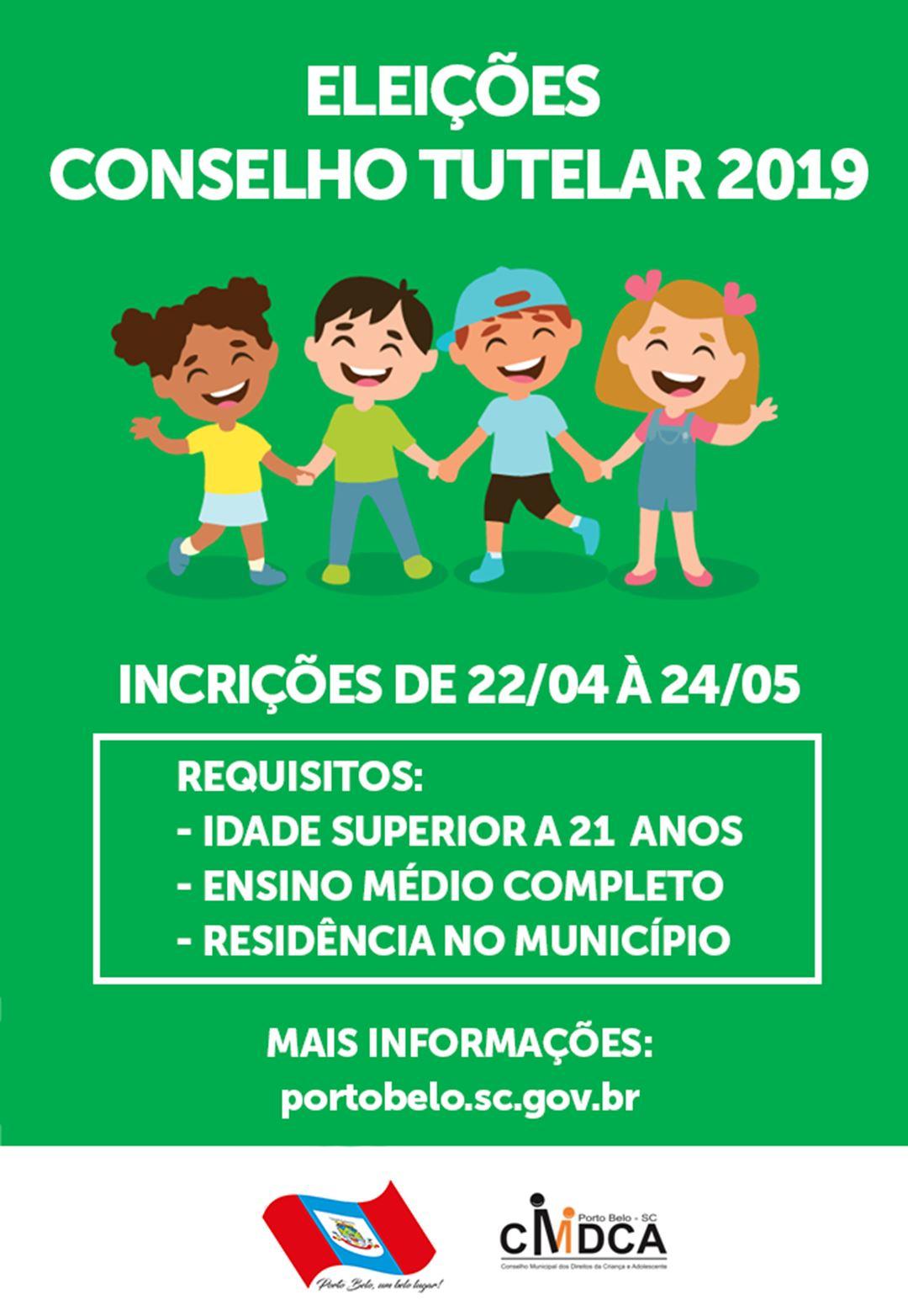 PORTO BELO - Lançado Edital para eleição de Conselheiros Tutelares