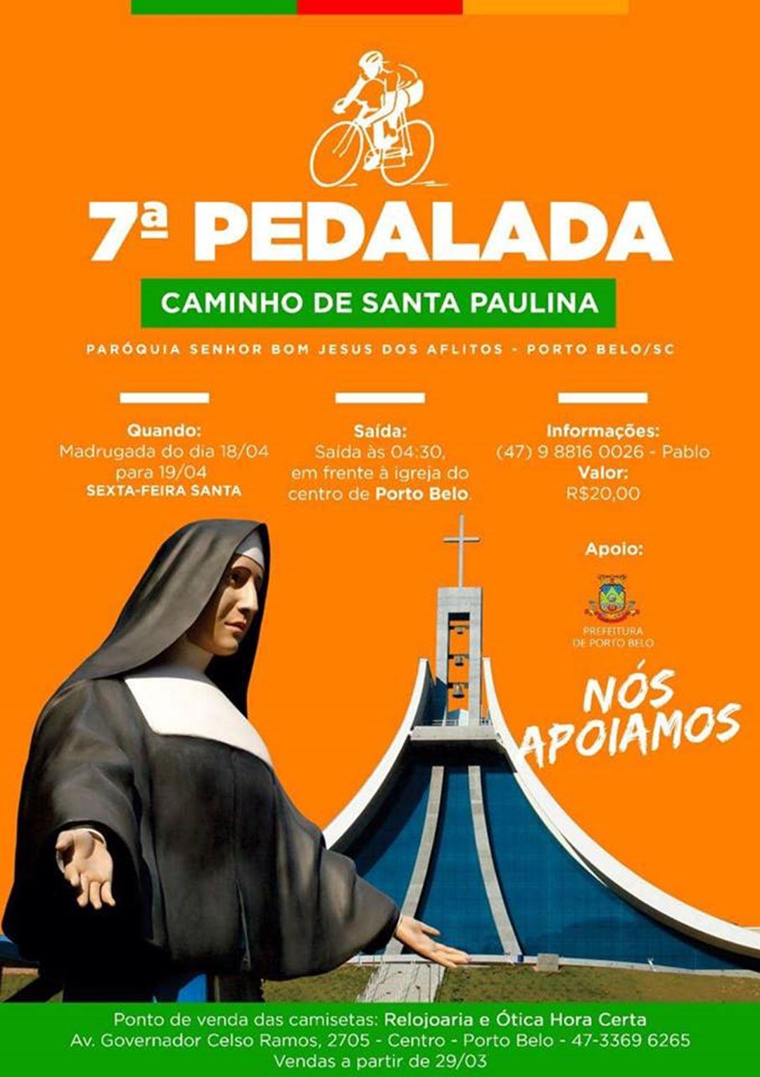 PORTO BELO - Moradores de Porto Belo realizam a 7ª pedalada Caminhos de Santa Paulina