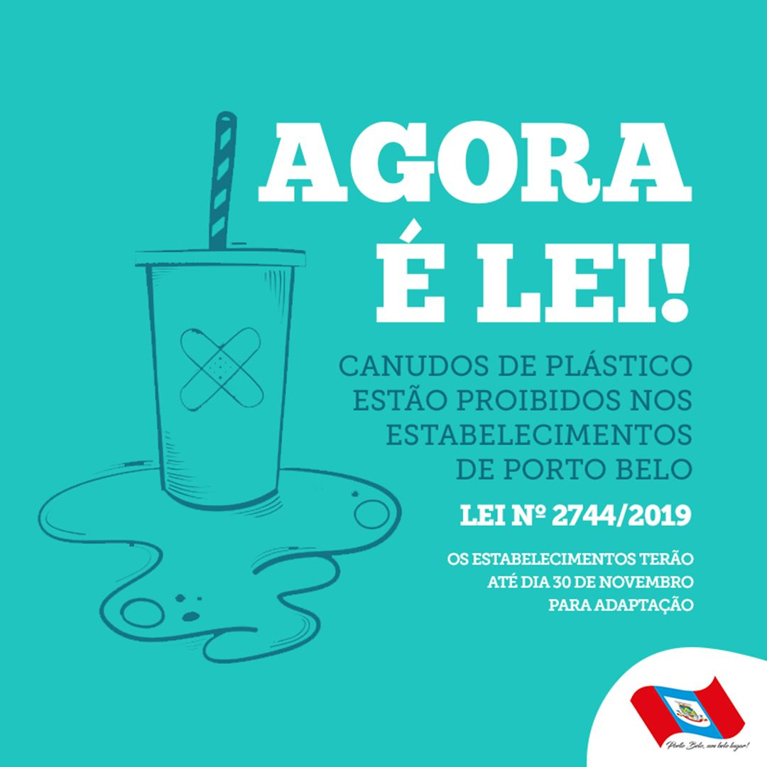 PORTO BELO - Porto Belo estabelece normas para canudos no comércio
