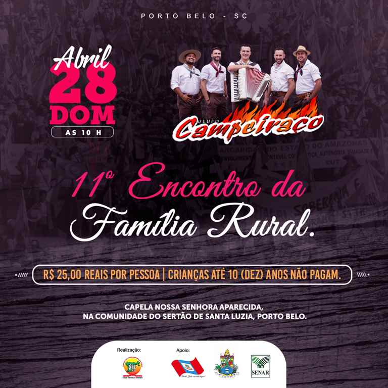 PORTO BELO - Porto Belo sedia 11º Encontro da Família Rural
