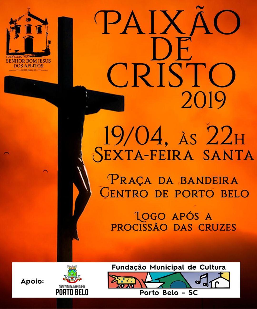 PORTO BELO - Porto Belo terá encenação da Paixão de Cristo