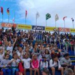 Alunos da Rede Municipal de Ensino acompanham os jogos do Circuito Mundial de Vôlei de Praia