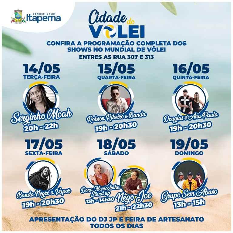 Circuito Mundial de Vôlei de Praia terá espaço para shows, gastronomia e artesanato