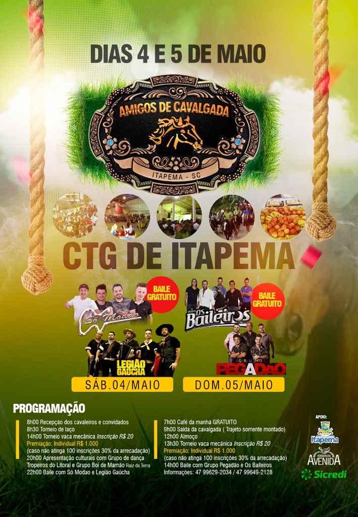 Final de semana será com cavalgada em Itapema