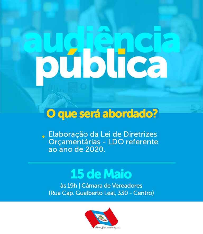 PORTO BELO - Porto Belo realiza Audiência Pública