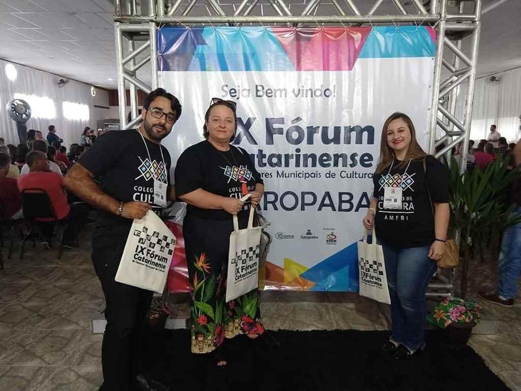 PORTO BELO – Representantes de Porto Belo participam do IX Fórum de Cultura de Santa Catarina