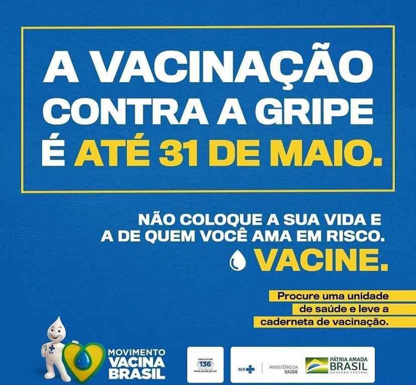 Vacinação contra a gripe segue disponível nas Unidades Básicas de Saúde