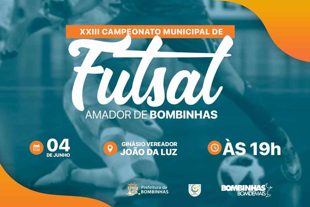 BOMBINHAS - Campeonato de Futsal Amador começa dia 4