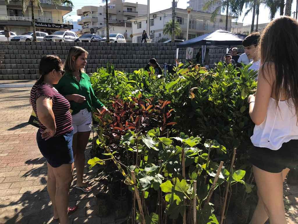Semana do Meio Ambiente encerra com troca de livros por mudas