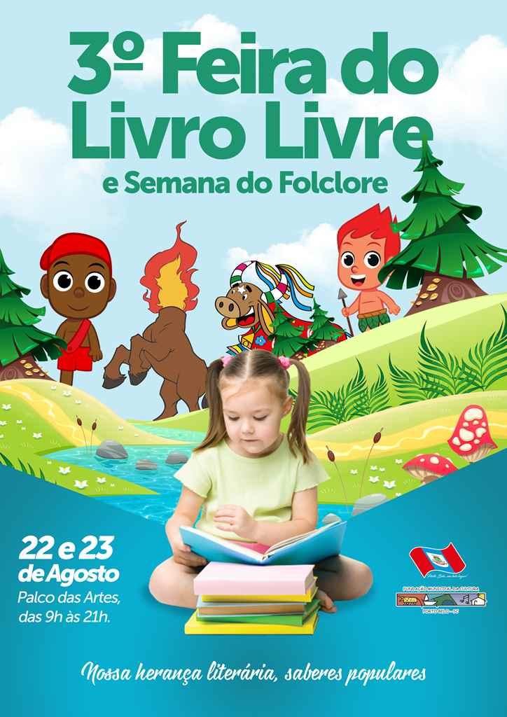 PORTO BELO - Porto Belo realiza a 3ª Feira do Livro Livre