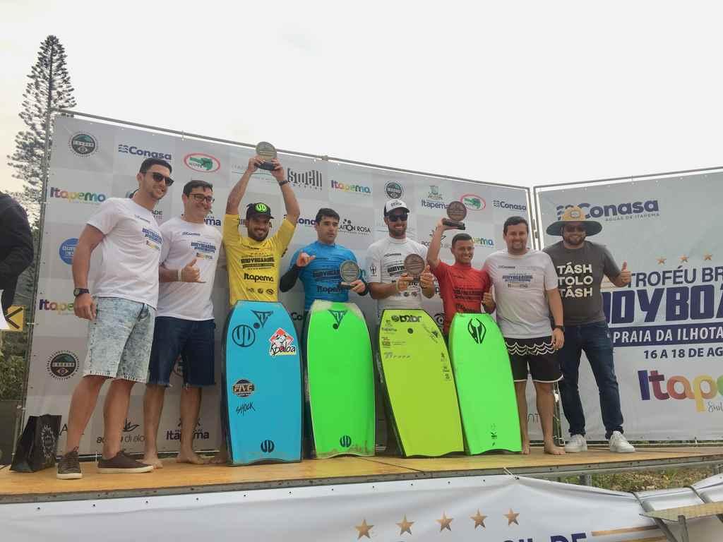 Uri Valadão e Joselaine Amorim vencem segunda etapa do Circuito Brasileiro Bodyboarding