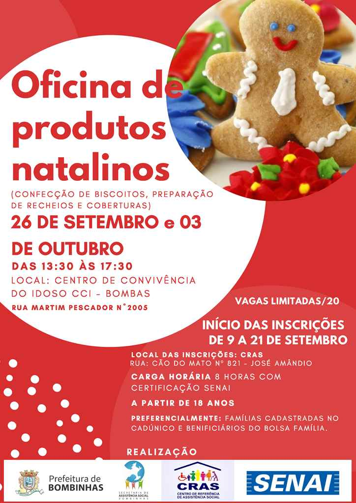 BOMBINHAS - Oficina capacita interessados em Culinária Natalina