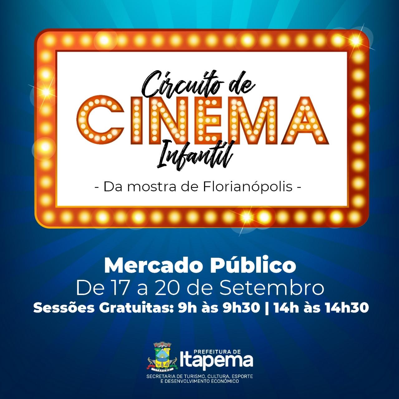 Circuito de Cinema Infantil começa nesta terça-feira (17/09)