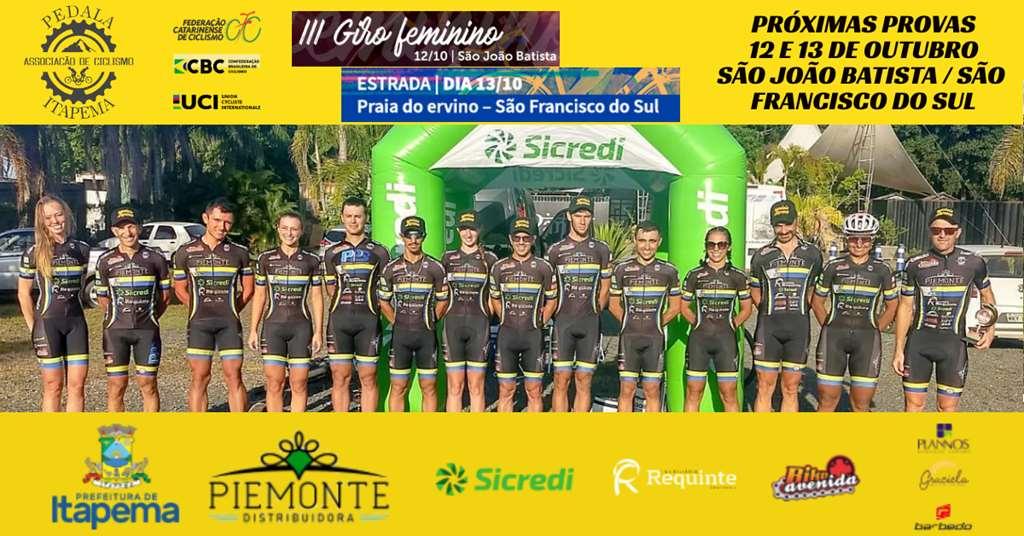 Equipe disputa Giro Feminino e Desafio Praia do Ervino de Ciclismo