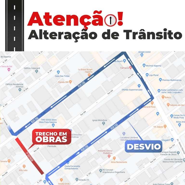 Trânsito na Segunda Avenida será alterado na noite de quinta-feira (17/10)